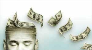 Голова человека из денег